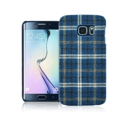 CUSTODIA TARTAN S6 EDGE BLUE
