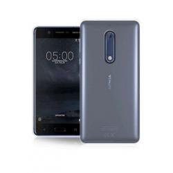 COVER SILICONE - Colore Trasparente grigia - Ultra Sottile 0,2 Mm  Nokia 5