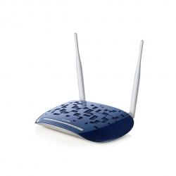 TP-Link Modem Router Wireless 300N 4 Porte Blu