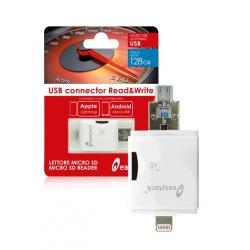 easyteck card reader 2.0 per apple lightning/android