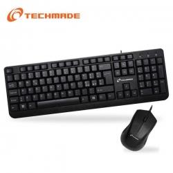 Tastiera USB + Mouse Ottico USB 1000 Dpi - Techmade