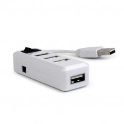 Gembird Hub USB 2.0 4 PorteBianco Con Switch