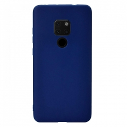 Cover in silicone soft blu - HUAWEI MATE 20