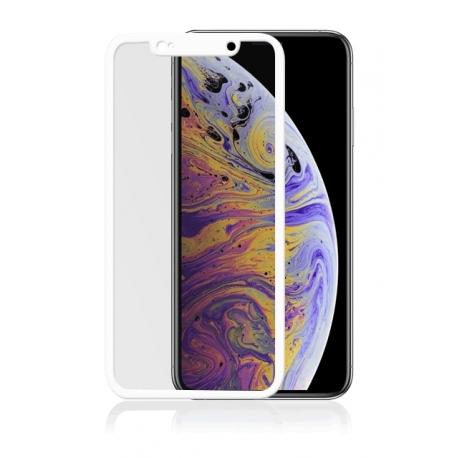 Vetro temperato 3D con bordi bianchi - IPHONE XS MAX