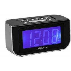 radio sveglia digitale, doppio allarme, bianca -Majestic Audiola
