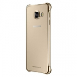 "Cover originale Samsung ""Clear"" bordo gold - Samsung A3 2016"