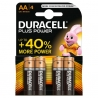 PILA ALKALINE STILO AA  DURACELL PLUS POWER - 4 PZ