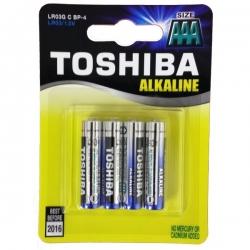 MINISTILO TOSHIBA ALKALINE AAA - 4 PZ