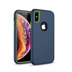 Cover in silicone blu DEFENDER - Samsung J6 PLUS 2018