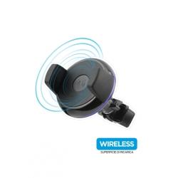 CARICABATTERIE DA AUTO WIRELESS 5W e SUPPORTO AUTO PER SMARTPHONE