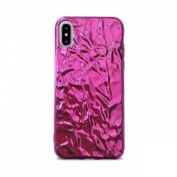 Cover con effetto metalizzato rosa - Iphone X-XS