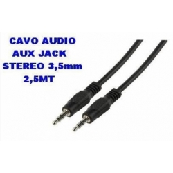 CAVO AUDIO JACK 3.5MM MASCHIO TO 3.5MM MASCHIO 1.5MT