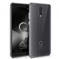 Cover in silicone trasparente grigia - Alcatel 1X