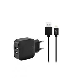 Caricabatterie 2 usb 2.1A da 10w per iPhone 6, 7, 8, X, iPAD 3 e successivi