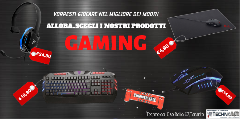 TAPPETINO MOUSE, TASTIERA RETROILLUMINTA,GAMING